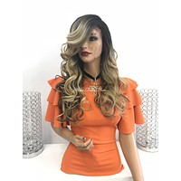 Blond balayage ombre' lace front wig - Rivera