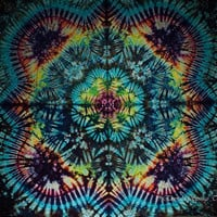 Large Tie Dye Tapestry by Emerald Springs Rainbow Festival size