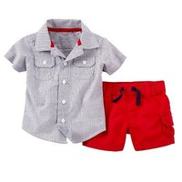 Carter's Striped Shirt & Shorts Set - Baby