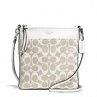 LEGACY NORTH/SOUTH SWINGPACK IN PRINTED SIGNATURE FABRIC