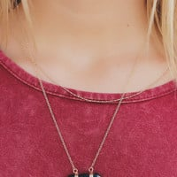 Time Will Tell Necklace - Black