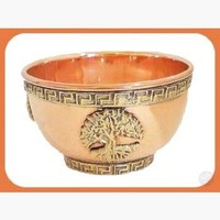 Tree of Life Copper Brass Offering Bowl