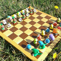 Legend of Zelda chess piece set