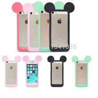 For iPhone 5 5s 5g 5c case Mouse ears model  Silicon material soft Back Case Cover For iphone 5 Mobile Phone case SJK0200