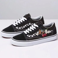 Vans Old Skool Woman Men Fashion Embroidery Sneakers Sport Shoes