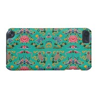 Vintage Floral on Bold Teal iPod Touch 5G Case