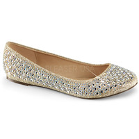 Fabulicious Gold Sparkle Ballet Flats