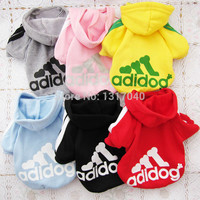 One Piece Hot selling Cheapest Pet Dog Clothes Clothing Coat Hooded Cotton Sweater Shirt Dress Winter Spring Summer Autumn