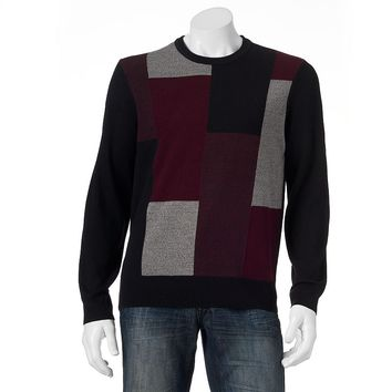 Dockers Comfort-Touch Patchwork Sweater - Big & Tall