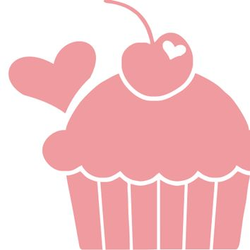 i Heart Cupcakes Decal