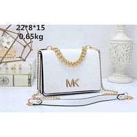 MK Michael Kors Tide brand female models slanting chain shoulder bag White