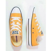 Converse Fashion Canvas Flats Sneakers Sport Shoes yellow-2