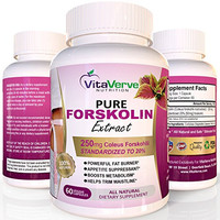 100% Pure Forskolin Extract For Extreme Weight Loss ★ Best Fat Burner, Metabolism Booster, Appetite Suppressant & Best Carb Blocker ★ 250mg Maximum Strength Diet Pills for Woman and Men.