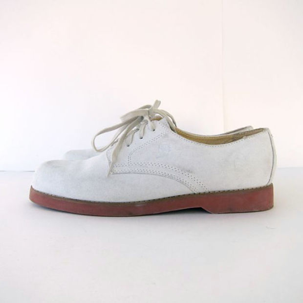 Mushrooms E47-09 White Leather Women's Comfort Shoes Vamp Weave Sz 9 M Free Ship