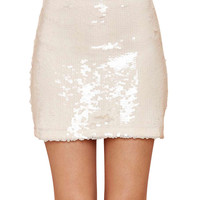 Pearl Embroidery Sequins Mini Bodycon Skirt