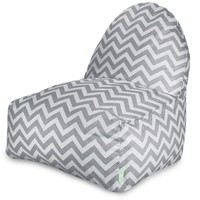 Gray Chevron Kick-It Chair