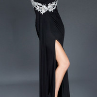 Black Label Couture 8 One Shoulder Grecian Jersey Evening Gown Prom Dress