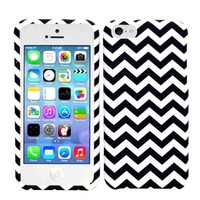 2013 New Release Apple iPhone 5C Chevron Lines Design Hard Case/Cover/Faceplate/Snap On/Protector + Screen Protector + Wireless Fones' Logo Bearing Wristband