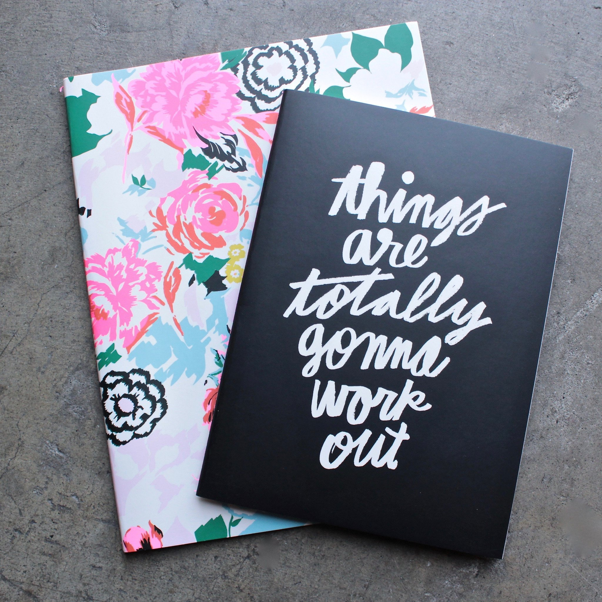 Image of Ban.do - Good Ideas Notebook Set in Florabunda + Things are Totally Gonna Work Out