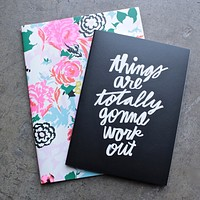 Ban.do - Good Ideas Notebook Set in Florabunda + Things are Totally Gonna Work Out