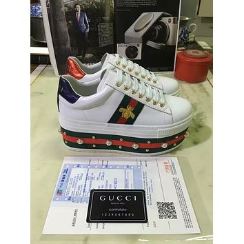 Gucci Women's Leather Low Top Sneakers Shoes