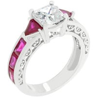 Ruby Red Regal Ring, size : 05