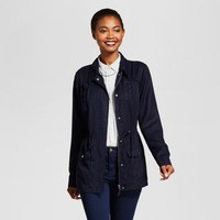 Women's Tencel Military Jacket - A New Day™ Navy M