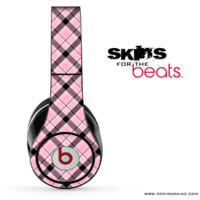 Pink & Black Plaid Skin for the Beats by Dre