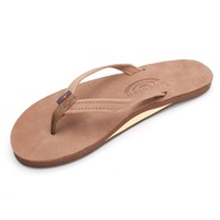 Women's Rainbow Sandals Premier Leather Single Layer Narrow