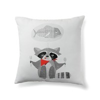 Hungry raccoon dreaming of fish