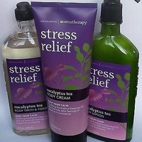 Bath & Body Works AROMATHERAPY Stress Relief EUCALYPTUS TEA Lotion/Wash/Cream