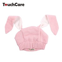 Infant Cute Long Rabbit Ears Baby Hat Spring Autumn Toddler Knitted Kids Caps Beanie Photography Props Accessories