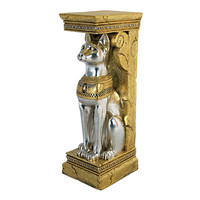 Park Avenue Collection Egyptian Cat Goddess Bastet Pedestal