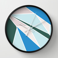 Ocean Colors Wall Clock by Ashley Hillman