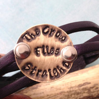 "Leather Bracelet, Dark brown, Sons of Anarchy lyrics, ""the crow flies straight"""
