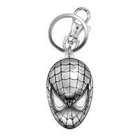 Spiderman Head Pewter Keychain