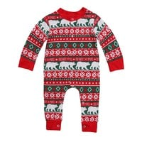 Christmas Newborn Infant Baby Girl Boy Outfit Long Sleeve Romper Jumpsuit Kid Xmas Baby Clothing