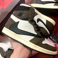 Bunchsun Air Jordan 1 x Travis Scott anti-barb high-top sneakers