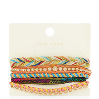 Gold Ethnic Friendship Bracelet Pack