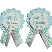 Dinosaur Baby Shower Pin - Daddy to be or Mommy to Be pin to wear at Baby Shower or Baby Sprinkle