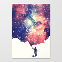 Painting the universe Stretched Canvas by Badbugs_art