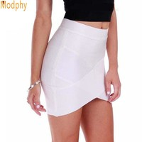 Women Hot Short Elastic Rayon Bandage Skirt Mini Sexy Slim Tight Pencil Night Club Party Candy 10 Colors Drop Shipping HL135-2