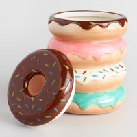 Donuts Ceramic Cookie Jar