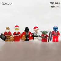 Star Wars Force Episode 1 2 3 4 5 6pcs/lot Christmas Santa Claus  Darth Vader C-3PO Yoda clonetrooper compatible legoe Advent Calendars Blocks kids toys AT_72_6
