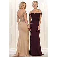 Off the shoulder evening gown & formal dress  Mq 1529 - CLOSEOUT