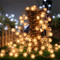 Snow-Ball 10M 100PCS LED Fairy String Light AC110V 220V For Valentine Party Christmas Wedding New Year Indoor&outdoor Decoration