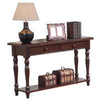 Cherry Solid Hardwood Sofa Table Entryway or Hall Console w/ 2 Drawers