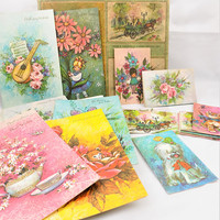 Greeting and Note Cards, Box Unused Cards, Envelopes, Birthday, Vintage Greeting Cards