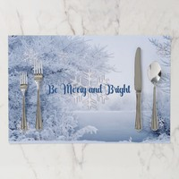 Beautiful Winter Image, Christmas in the Country Placemat