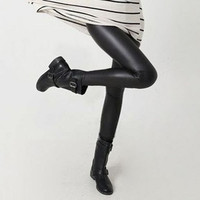 Women Pants Trousers Sexy Slim Shiny Fitness  Faux Leather Legging RT5